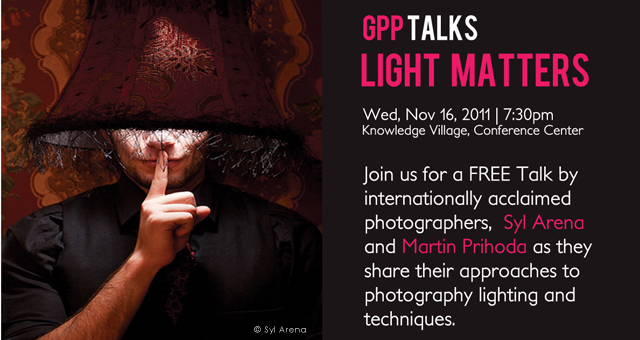 GPPTALKS  |  LIGHT MATTERS with Syl Arena & Martin Prihoda
