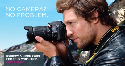 Don't have an SLR Camera? We'll give you one to learn with.
