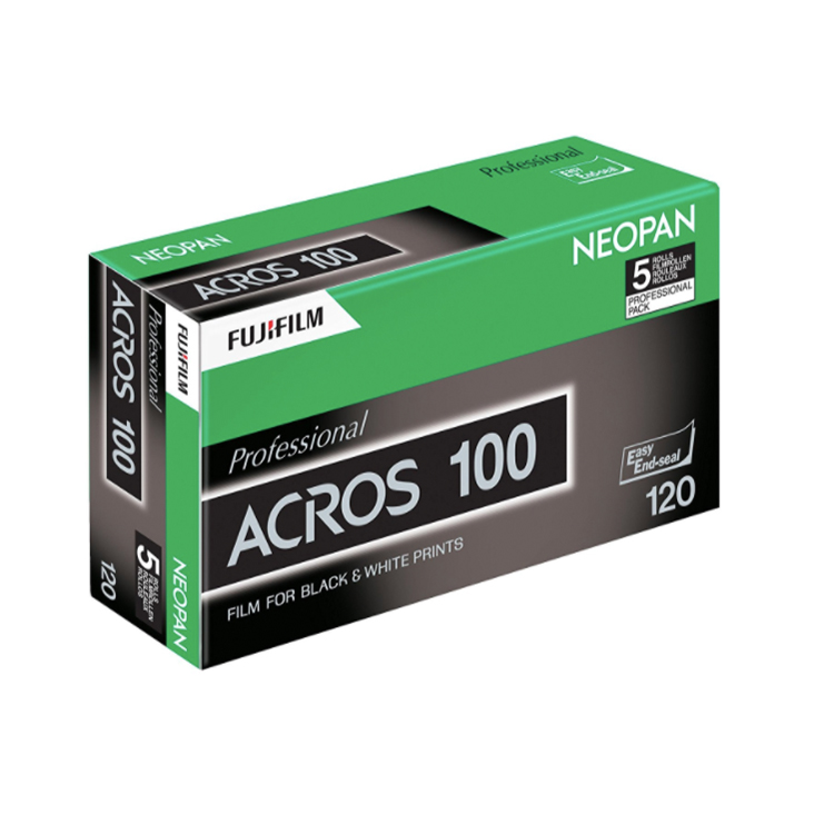 Fujifilm Neopan ISO 100 Acros Black and White Negative Film (120mm -  5pack)