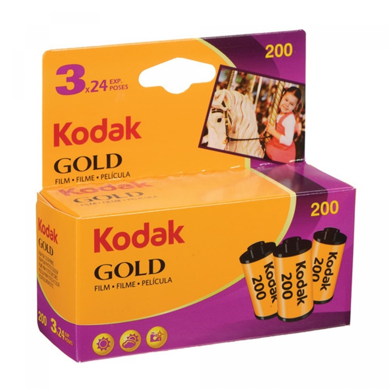 Kodak Gold 200 (35mm) 3-Pack Color Negative Film