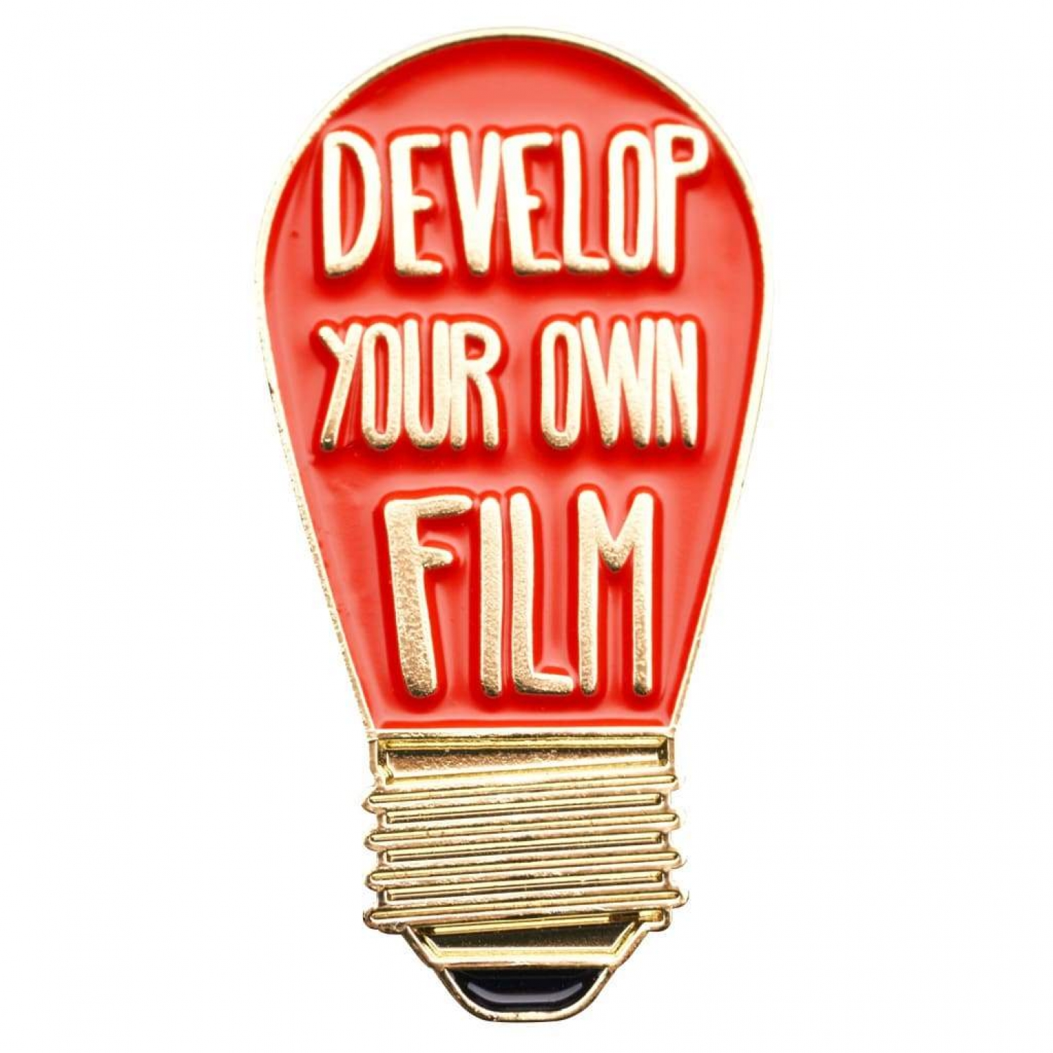 Develop Your Own Film Darkroom Red Bulb Pin