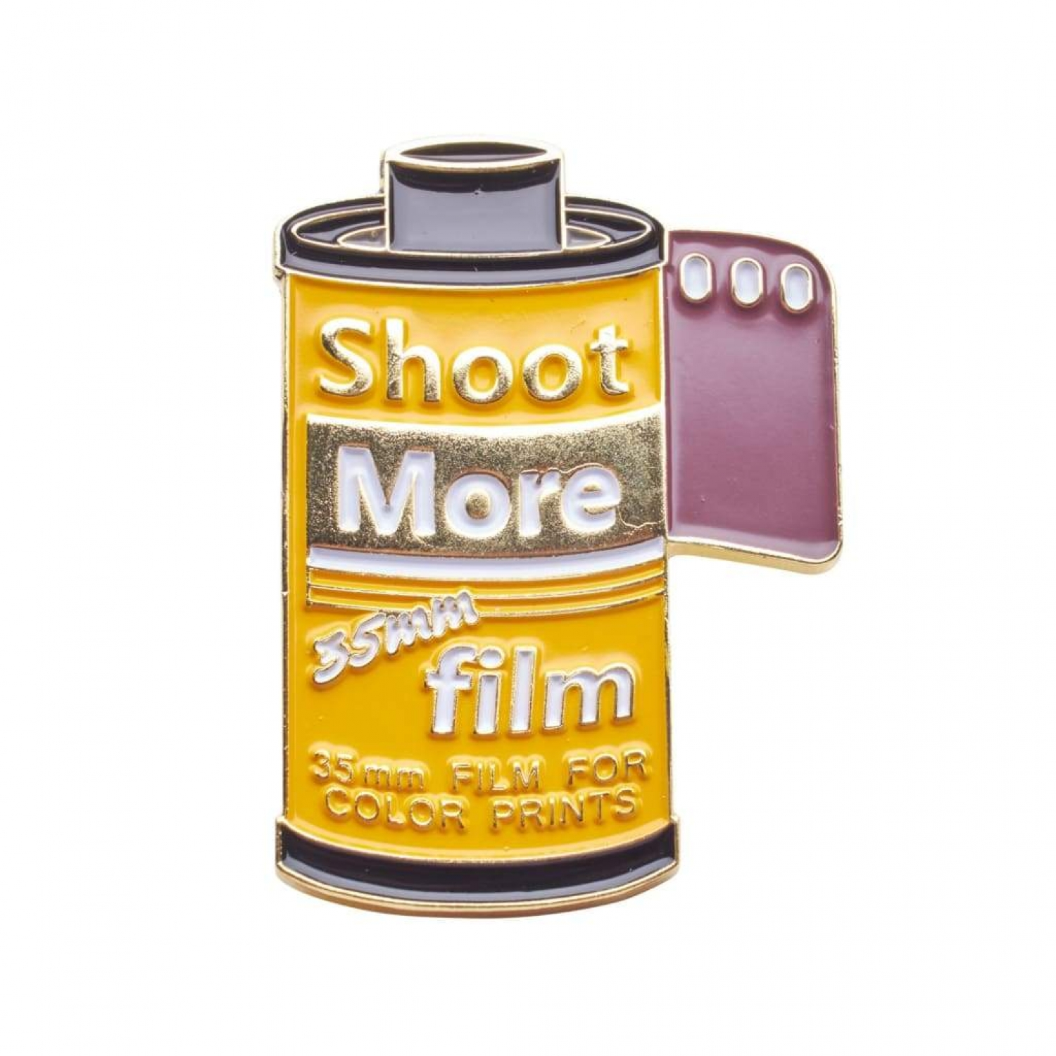 Shoot More 35mm Film Pin