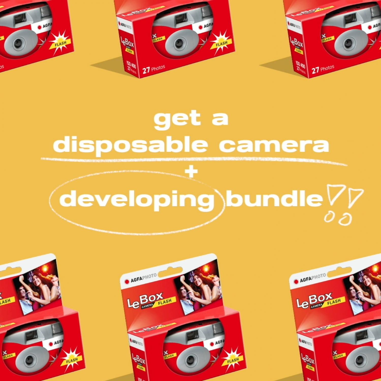 Disposable Camera+Developing Bundle